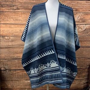 Woolrich Poncho Reversible